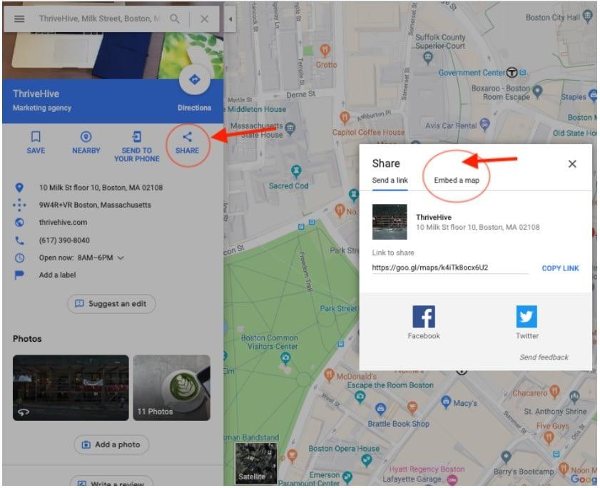 insertar ficha de google maps en tu web