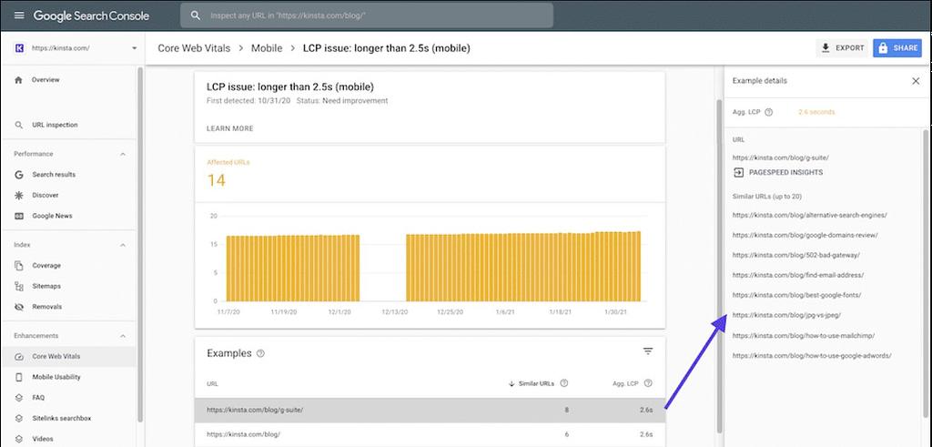 metricas web principales en Search Console