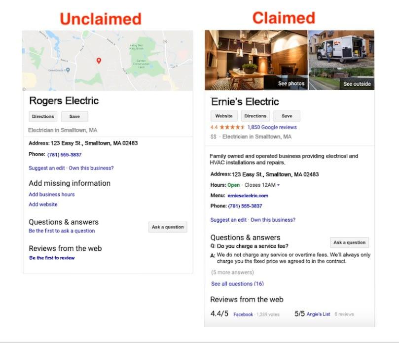 reclamar ficha en google maps